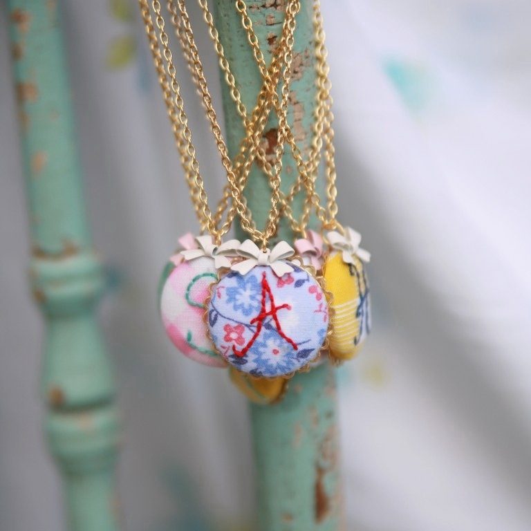 20120216 161650 Sweet Sophie Blue Embroidered Necklaces