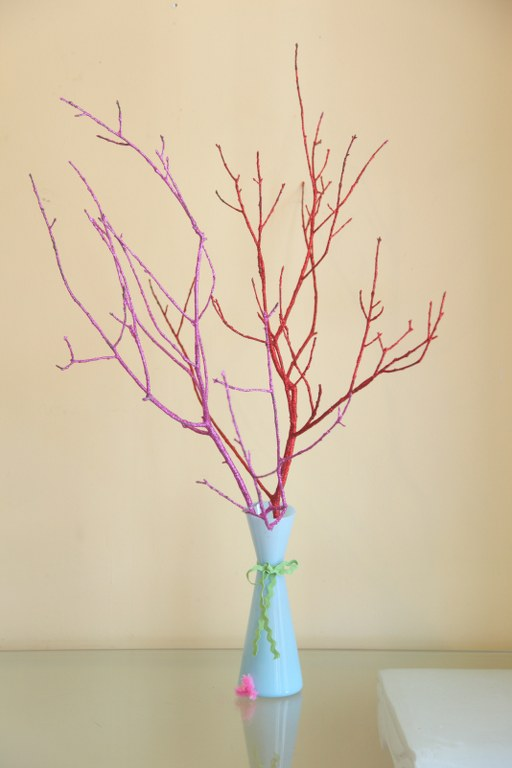 gliiter branches 1 14 Days of Love  Glitter Branches/ Lovebird Tree
